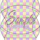Pastel Checkered Easter #2 ~ Pillow Treat Gift Box