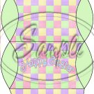 Pastel Checkered Easter Green Ends ~ Pillow Treat Gift Box