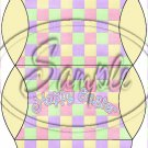 Pastel Checkered Easter Yellow Ends ~ Pillow Treat Gift Box