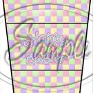 Pastel Checkered Easter #1 ~ Gift Card Holder Latte` Cup