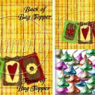Harvest Quilt Squares ~  Treat Bag Topper ~ 1 Dozen