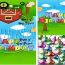 Country Tractor Happy Birthday  ~ Bag Topper 1 Dozen