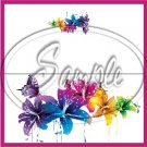 Colorful Lilies Floral ~ Pink ~ Treat Bag Topper
