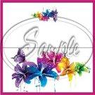 Colorful Lilies Floral ~ Pink ~ 1 Dozen ~ Treat Bag Topper