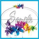 Colorful Lilies Floral ~ Turquoise ~ 1 Dozen  ~ Treat Bag Topper