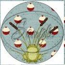 Gone Fishing #1  ~ Cupcake Toppers ~ Set of 1 Dozen