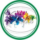 Colorful Lilies ~ Green ~ Cupcake Toppers ~ Set of 1 Dozen