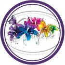 Colorful Lilies ~ Purple ~ Cupcake Toppers ~ Set of 1 Dozen