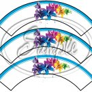 Colorful Lilies ~ Turquoise Edge ~ Cupcake Wrappers ~ Set of 1 Dozen