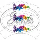 Colorful Lilies ~ Scallop Edge ~ Scallop Cupcake Wrappers ~ Set of 1 Dozen