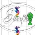 Colorful Lilies Green Tie & Collar ~ Dress Shirt Pinch Box EACH