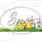Easter Bunny in the Grass ~ Gable Gift or Snack Box