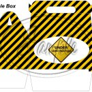 Construction Yellow Under Construction Sign ~ Gable Gift or Snack Box