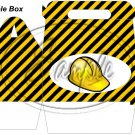 Construction Yellow Hard Hat ~ Gable Gift or Snack Box