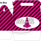 Construction Pink Traffic Cone ~ Gable Gift or Snack Box