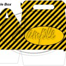 Construction Yellow Personalize It ~ Gable Gift or Snack Box