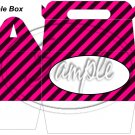 Construction Pink Personalize It ~ MINI Gable Gift or Snack Box