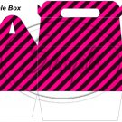Construction Pink Blank ~ MINI Gable Gift or Snack Box