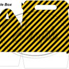 Construction Yellow Blank ~ MINI Gable Gift or Snack Box
