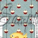 Gone Fishing Fish Bobber Yellow Perch ~  Hershey's Mini Candy Bar 2 Wrapper Box