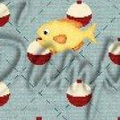 Gone Fishing Fish Bobber Yellow Perch ~ MINI Candy Bar Wrappers 1 DOZEN