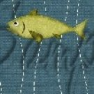Gone Fishing Fish Bubbles Green Trout ~ MINI Candy Bar Wrappers 1  EACH
