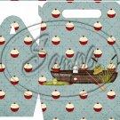 Gone Fishing Fish Bobber Boat & Gear ~ MINI Gable Gift or Snack Box