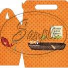 Gone Fishing Fish Orange Boat & Gear  ~ MINI Gable Gift or Snack Box