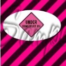 Construction Pink Sign ~ MINI Candy Bar Wrappers EACH