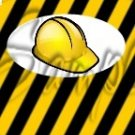 Construction Yellow Hard Hat ~ MINI Candy Bar Wrappers 1 DOZEN