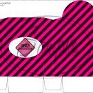 Construction Pink Traffic Sign ~ Round Top Pinch Treat or Gift Box ~ 1 DOZEN