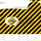 Construction Yellow Traffic Sign ~ Round Top Pinch Treat or Gift Box 1 EACH
