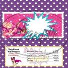 Barbie Power ~ Standard 1.55 oz Candy Bar Wrapper  SOE