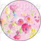 Pink Wild Flowers ~ Cupcake Toppers ~ Set of 1 Dozen