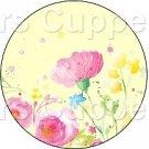 Yellow Single Wild Flower ~ Cupcake Toppers ~ Set of 1 Dozen