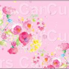 "Pink Wild Flowers  ~ Horizontal  ~ 6"" X 8"" Foil Pan Lid Cover"