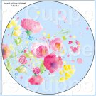 "Blue Wild Flowers  ~ 7"" Round Foil Pan Lid Cover"