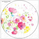 "White Wild Flowers  ~ 7"" Round Foil Pan Lid Cover"