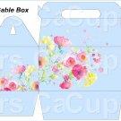 Blue Wild Flowers ~ Gable Gift or Snack Box DOZEN
