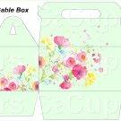 Green Wild Flowers ~ Gable Gift or Snack Box DOZEN
