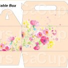 Peach Wild Flowers ~ Gable Gift or Snack Box DOZEN