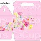 Pink Wild Flowers ~ Gable Gift or Snack Box DOZEN