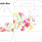 White Wild Flowers ~ Gable Gift or Snack Box DOZEN