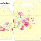 Yellow Wild Flowers ~ Gable Gift or Snack Box DOZEN