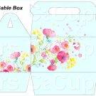 Aqua Wild Flowers   ~ MINI Gable Gift or Snack Box EACH