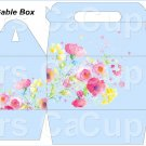Blue Wild Flowers   ~ MINI Gable Gift or Snack Box DOZEN