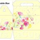 Yellow Wild Flowers   ~ MINI Gable Gift or Snack Box DOZEN