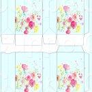 Aqua Wild Flowers ~ MINI Pinch Treat Gift Box ~ DOZEN