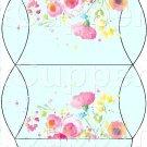 Aqua Wild Flowers ~ Pillow Treat Gift Box