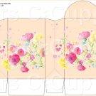 Peach Wild FLowers ~ Round Top Pinch Treat or Gift Box ~ 1 DOZEN